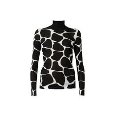 Burberry Silk Animal Print Polo Neck Sweater ❤ liked on Polyvore