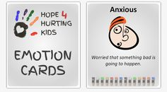 A significant part of helping kids to deal with their emotions (Jump In! Stand Strong! Rise Up!) is helping them to develop a robust feelings vocabulary. That is why we are excited to present our very own set of Hope 4 Hurting Kids Emotion Cards.