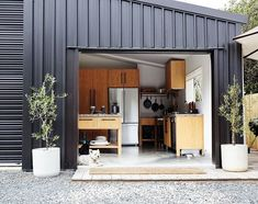 Every thought about how to house those extra items and de-clutter the garden? Building a shed is a popular solution for creating storage space outside the house. Whether you are thinking about having a go and building a shed yourself Big Design, House Design, Converted Shed, Converted Barn Homes, Douglas And Bec, Pole Barn Homes, Pole Barns, Modern Shed, Maple Floors
