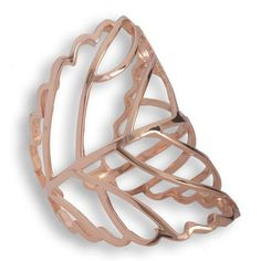 Rose Gold Plated Silver Long Ring