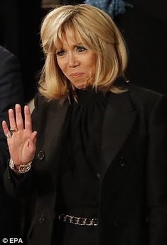 Brigitte Macron (pictured on this week's US state visit) has complained about her wallflo...