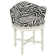 Love Sa Vanity Stool In Zebra Minnie Pb