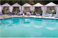 Ahhh pool side (cabana boy optional).