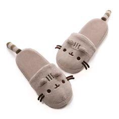 """Gund Pusheen Adult Sized Slippers 12"""" L #GUND"""