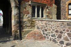 Victorian urine deflector, Priory Gatehouse, Malvern by Bob Embleton, via Geograph