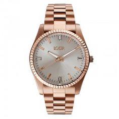 LOISIR 11L05-00228 minimalistisch horloge van roségoudverguld RVS