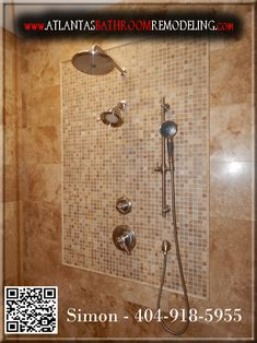 Travertine Shower with Delta Shower System