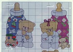 baby bottle teddy bear cross stitch