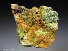 Chenevixite with Olivenite - Wheat Unity, St. Day United mines, St. Day district, Cornwall, England