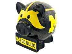 Michigan Wolverines Thematic Piggy Bank NCAA