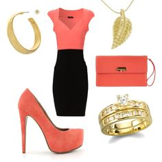 Dinner outfit, created by sarahmelo17 on Polyvore