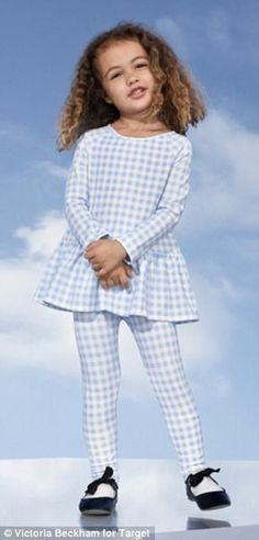 The collection features gingham for both girls and women.  https://workinglook.com/2017/03/19/catching-spring-fever-with-victoria-beckhams-target-collection/
