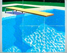 DAVID HOCKNEY: Diving Board with Shadow, 1978  colored and pressed paper pulp 72x85 1/2 in.