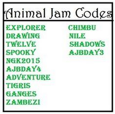 animal jam code list                                                                                                                                                      More