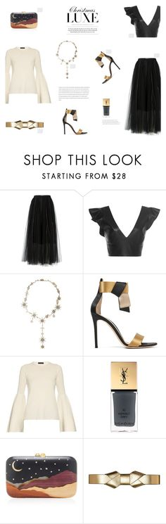 """""""CHRISTMAS LUXE"""" by canvas-moods ❤ liked on Polyvore featuring Dorothee Schumacher, Isabel Marant, Gianvito Rossi, The Row, Yves Saint Laurent, Silvia Furmanovich, Marni, Christmas, Luxe and luxury"""