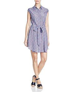 Tory Burch Gigi Mosaic Silk Shirt Dress