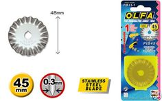 OLFA 45mm Rotary Cutter Pinking Blade: Amazon.co.uk: Kitchen & Home