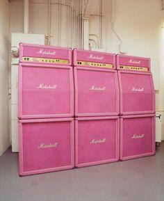 Pink Marshall Stack Wall