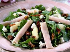 Smoked Turkey and Pear Salad with Pomegranate Vinaigrette and ...
