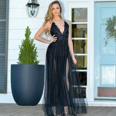 dd80353865a1 Night To Remember Black Sequin And Tulle Formal Dress From Cousin Couture.  Black Sequins,