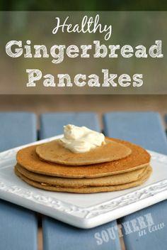 Healthy Gingerbread Pancake Recipe - Gluten Free, Low Fat, Sugar Free