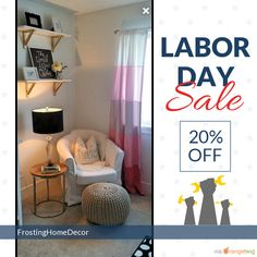 20% OFF on select products. Hurry, sale ending soon!  Check out our discounted products now: https://www.etsy.com/shop/FrostingHomeDecor?utm_source=Pinterest&utm_medium=Orangetwig_Marketing&utm_campaign=Labor%20Day%20Sale   #etsy #etsyseller #etsyshop #etsylove #etsyfinds #etsygifts #interiordesign #stripes #onetofollow #supportsmallbiz #musthave #loveit #instacool