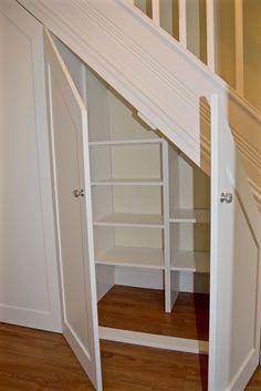 Understairs Storage Door Under Stairs . Understairs Storage Door Under Stairs . Pin On for the Home Cabinet Under Stairs, Shelves Under Stairs, Closet Under Stairs, Space Under Stairs, Stair Shelves, Diy Storage Shelves, Staircase Storage, Basement Storage, Staircase Design
