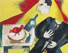 """Marc Chagall (1887-1985) Le buveur ou L'Absinthe ou Etude pour """"Le Saoul"""""""