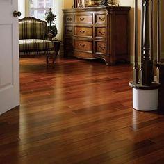 Santos Mahogany Floors from BrandFloors.com are a superior alternative to genuine mahogany for its hardness, density, and stability.