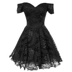 Origami Lace Dress ($120) ❤ liked on Polyvore featuring dresses, short dresses, sweetheart neckline cocktail dress, off the shoulder dress, lace cocktail dress, short flare dress and mini dress