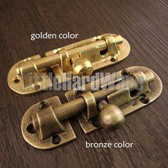 10pcs mini antique brass color ox horn jewelry box catch box staple