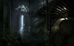 ArtStation - The Evil Within - warehouse interior, daniel rudnicki