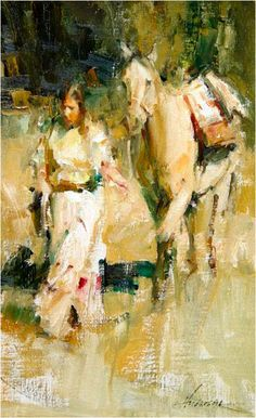 Carolyn Anderson 006 American Impressionism, Impressionist Paintings, Indian Paintings, Animal Paintings, Horse Paintings, Culture Art, Southwest Art, Native American Art, American Indians