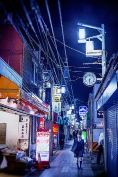 Tokyo Alley by tokyofashion, via Flickr - Miss these colors.
