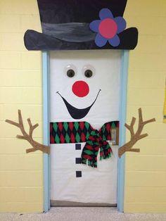 Sneeuwpop deur