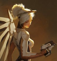 Overwatch Mercy (Angela Ziegler) fanart by sugarcoated on ArtStation