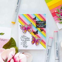 simon says stamp april 2018 card kit Creative Birthday Cards, Flower Birthday Cards, Homemade Birthday Cards, Birthday Cards For Mum, Homemade Cards, Card Making Inspiration, Making Ideas, Marker, Handmade Cards