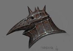 Plague Knight Helmet, mike franchina on ArtStation at https://www.artstation.com/artwork/5dkJW
