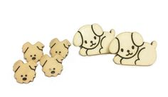 Puppy Buttons  Novelty Buttons  Dog by supplysideeconomics on Etsy