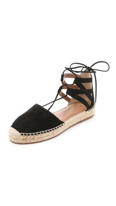 Aquazzura Belgravia Suede Espadrilles, black lace up sandal, $495 | Shopbop