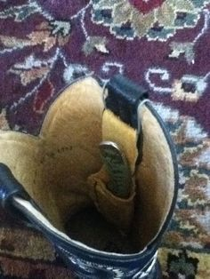 Cowboy boot knife sheath