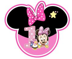 ambientacion minnie bebe Minnie Mouse Stickers, Minnie Mouse Decorations, Minnie Mouse Pink, Baby Mickey, Baby Mouse, Mickey Minnie Mouse, Minnie Mouse Birthday Theme, Mickey Mouse Clubhouse, Ideas