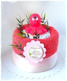Gateau de couches Octopussy cake - Babys Cakes #cadeaunaissance #jouetdebain #pieuvre