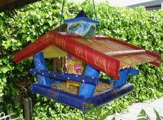 vogelvoederhuisje Paint Pens, Mosaic, Outdoor Decor, Painting, Home Decor, Art, Art Background, Painting Art, Kunst