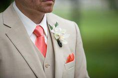 Herringbone - Coral || Ties - Wear Your Good Tie. Every Day - Herringbone - Coral Ties