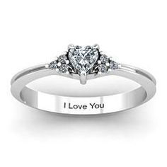 I found 'Narrow Heart Engagement Ring with Shoulder Accents' on Wish, check it out!
