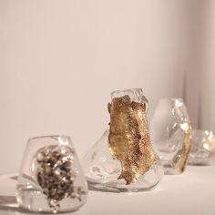 @SoudaBrooklyn / carwangallery: #carwangallery #designdaysdubai with #lindseyadelman #liminal #vessels #glass #bronze #silver #series #unique #precious Posted by SoudaSouda Follow Souda on instagram,...