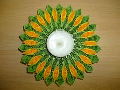 quilled candle ring