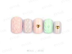 ニットネイル Es Nails, Nail Arts, Girly, Japan, Paris, Sweater, Style, Sweater Cardigan, Okinawa Japan