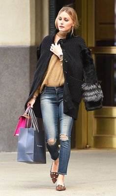 From leather pants to her go-to flats, these are the pieces Olivia Palermo wears on repeat.
